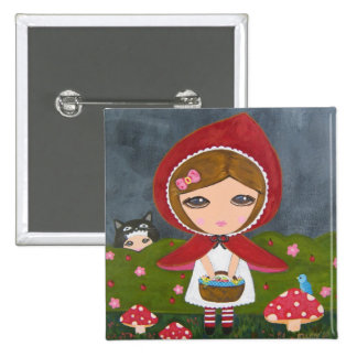 Little Red Riding Hood 15 Cm Square Badge