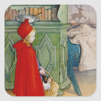 Little Red Riding Hood 1913 Square Sticker