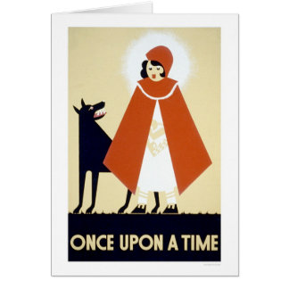 Little Red Riding Hood 1937 WPA Card