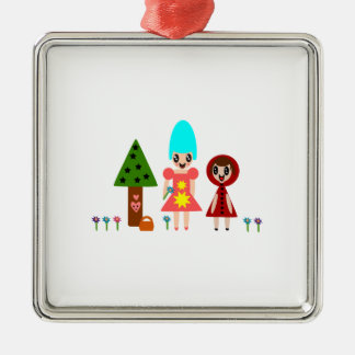 Little Red Riding Hood and Grandma 344 Christmas Ornament