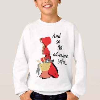 Little Red Riding Hood and Her Wolf Pup Sweatshirt
