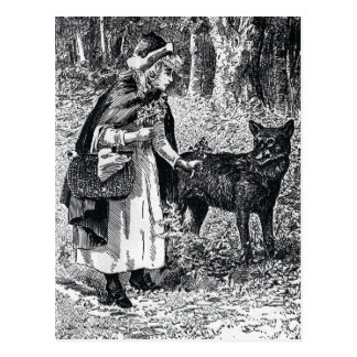 Little Red Riding Hood and Wolf Post Card