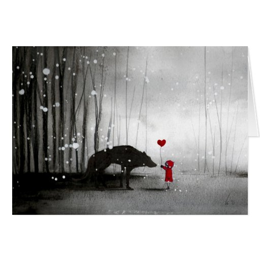 Little Red Riding Hood Be My Valentine Cards