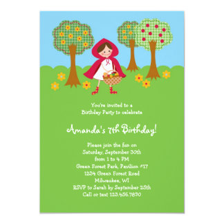 Little Red Riding Hood Birthday Invitation