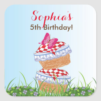 Little Red Riding Hood Birthday Stickers