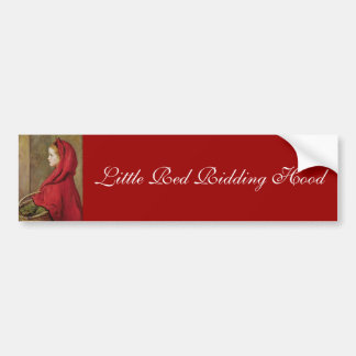 Little Red Riding Hood by John Everett Millais Bumper Sticker
