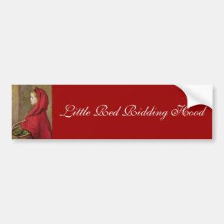 Little Red Riding Hood by John Everett Millais Car Bumper Sticker