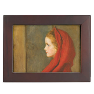 Little Red Riding Hood by Millais Memory Box