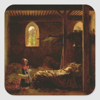 Little Red Riding Hood, c.1820 Square Sticker