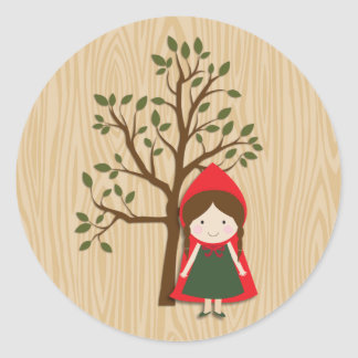 Little Red Riding Hood Classic Round Sticker