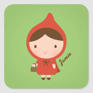 Little Red Riding Hood Fairytale for Girls Square Sticker