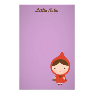 Little Red Riding Hood Girl Personalized Stationery