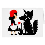 Little red riding hood greeting cards