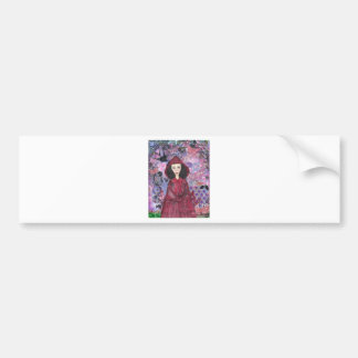 Little Red Riding Hood in the Woods 001.jpg Bumper Sticker