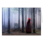 Little Red Riding Hood on Halloween Greeting Card