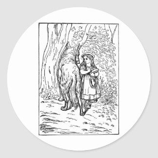 little-red-riding-hood-pictures-1 round sticker