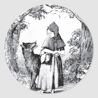 little-red-riding-hood-pictures-3 round sticker