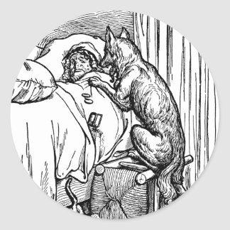 little-red-riding-hood-pictures-4 round stickers