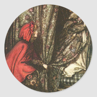 little-red-riding-hood-pictures-5 round sticker