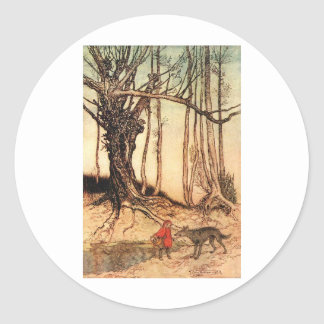 little-red-riding-hood-pictures-6 round stickers
