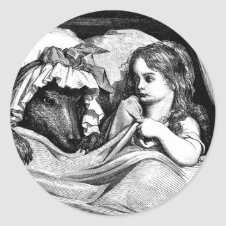 little-red-riding-hood-pictures-7 round sticker