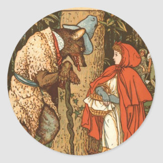 little-red-riding-hood-pictures-9 classic round sticker