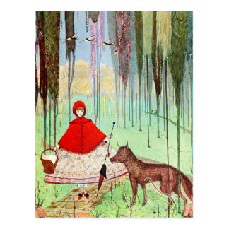 Little Red Riding Hood Postcard