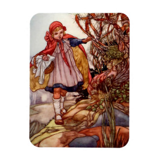 Little Red Riding Hood - Rectangle Magnet