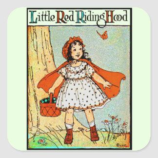 Little Red Riding Hood Square Sticker