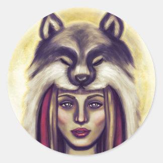 Little Red Riding Hood Round Sticker