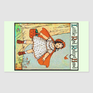 Little Red Riding Hood Rectangle Stickers