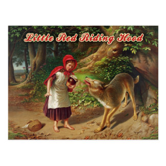 Little Red Riding Hood the Big Bad Wolf Post Card