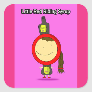Little Red Riding Syrup Stickers