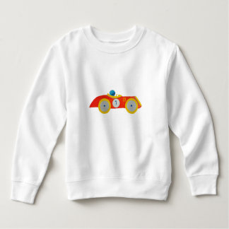 Little Red Roadster Racing Car Child 1st Birthday Sweatshirt