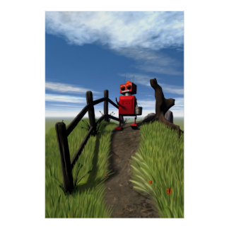 Little Red Robot Print