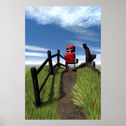 Little Red Robot Print