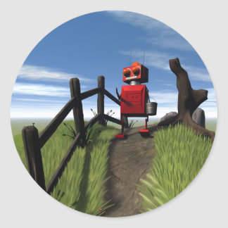Little Red Robot Sticker