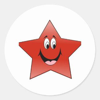 LITTLE RED STAR - 55 ROUND STICKER