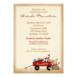 Little Red Wagon Sports Theme Boy Baby Shower 13 Cm X 18 Cm Invitation Card
