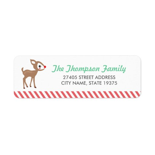 Little Reindeer by Origami Prints Address Labels