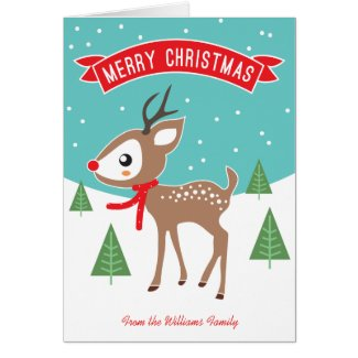 Little Reindeer Christmas Card