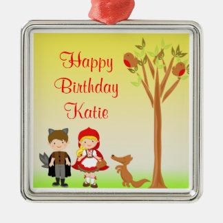 Little Riding Hood Birthday Celebration Christmas Ornament