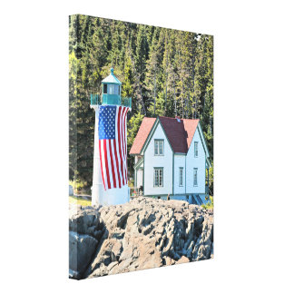 Little River Lighthouse, Maine Wrapped Canvas