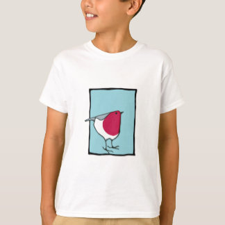 Little Robin blue Kids T-Shirt