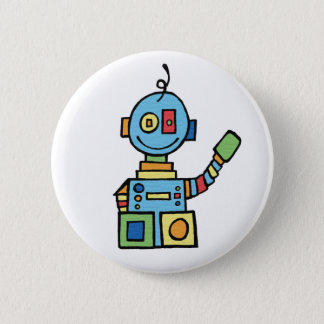 Little Robot 6 Cm Round Badge
