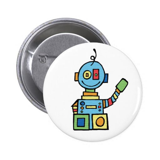 Little Robot Pinback Button