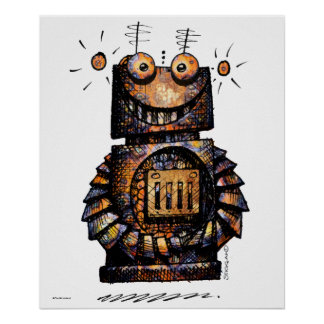 Little Robot Poster