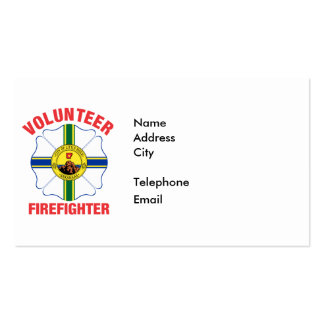 Little Rock, AR Flag Volunteer Firefighter Cross Pack Of Standard Business Cards
