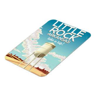 Little Rock Arkansas travel poster Magnet