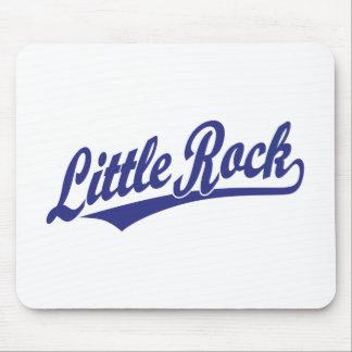 Little Rock script logo in blue Mouse Pad